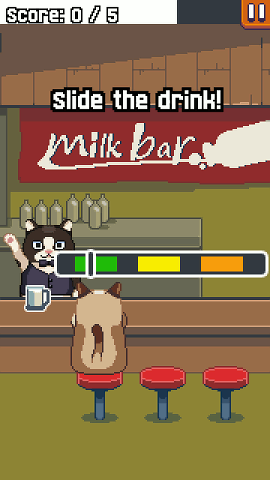 Grumpy Cat in a bar in the Android game