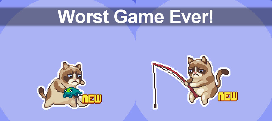 Grumpy Cat on Android! Play a collection of mini games featuring the grumpy moggy. Grumpy Cat will also tell you the weather forecast.