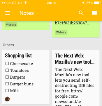 How to share notes on an iPhone with an Android phone user