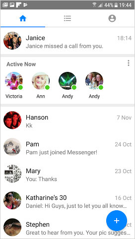 Facebook Messenger Lite for Android home screen