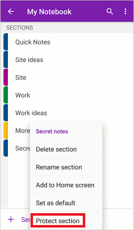 How to password protect OneNote notes to keep them secure