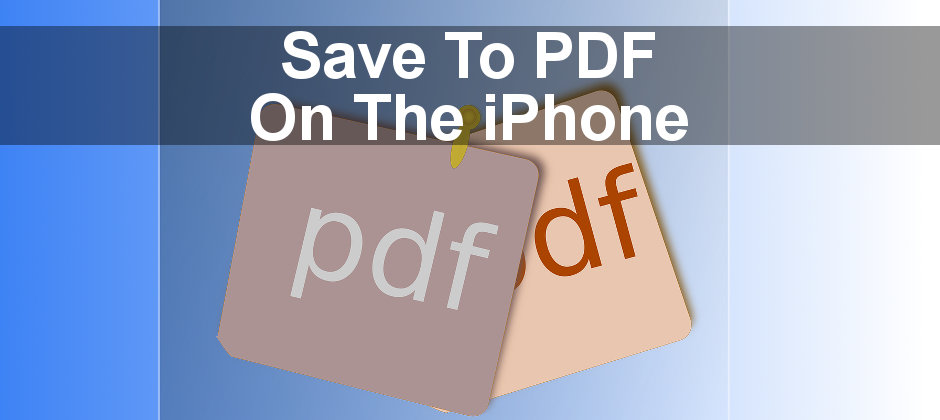 Save web pages as PDF files using Safari on the iPhone. Store them in iCloud Drive or Google Drive.