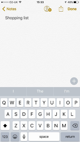 Create a note with Apple Notes on the iPhone