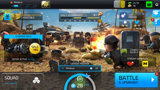 WarFriends game for Android home screen