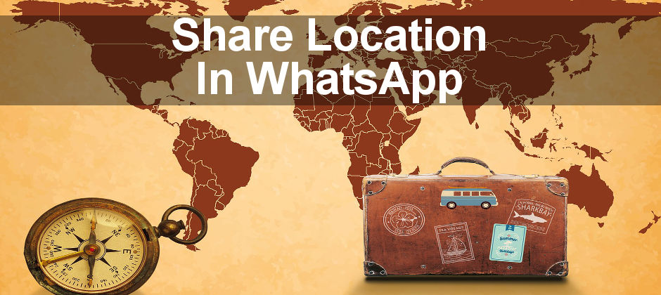 Use the location sharing features in WhatsApp to show people exactly where you are.
