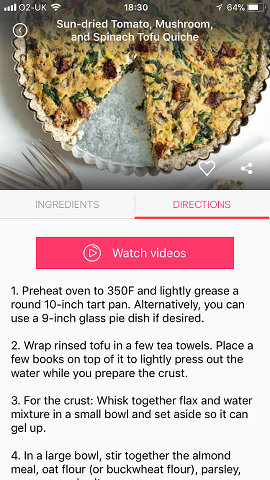 Four vegan recipe apps for the iphone full of delicious ideas vegan recipes app for the iphone forumfinder Image collections