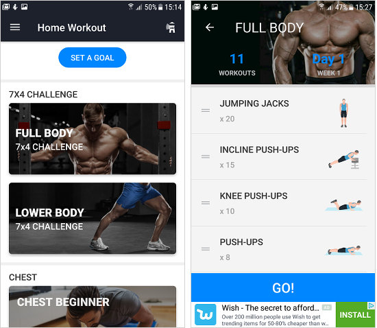 Home Workout App For Android