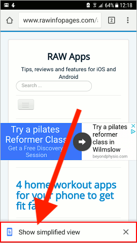 How to hide ads and remove webpage clutter in Chrome on Android