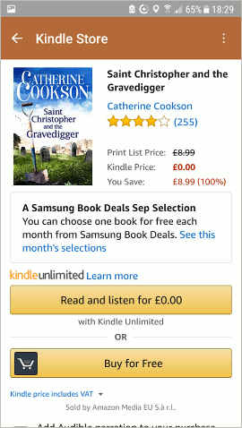 Get free Kindle ebooks from Amazon, Samsung, and more from