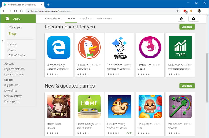 google chrome store android