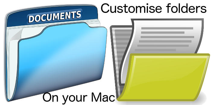 Customise folders on the Apple Mac by replacing the default icon