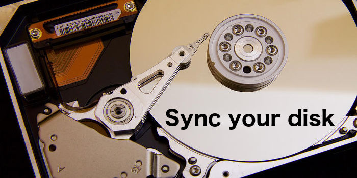 Sync folders on the Apple Mac's disk drive with folders on an external disk drive