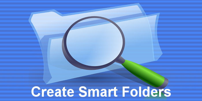 Create smart folders in macOS on the Apple Mac and use them to find files matching search criteria from filenames to file sizes