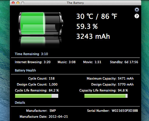 The Battery for OS X