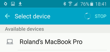Share files via Bluetooth on Android