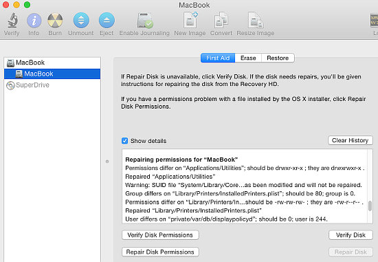 Disk Utility in OS X