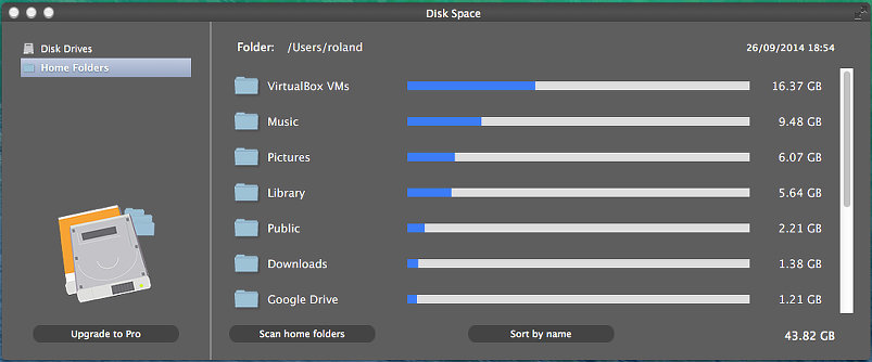 Disk Space for the Mac