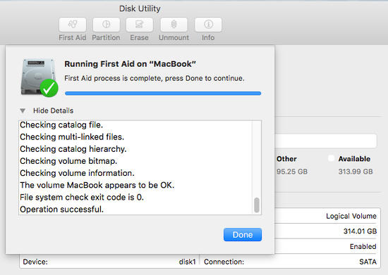 Disk Utility on OS X