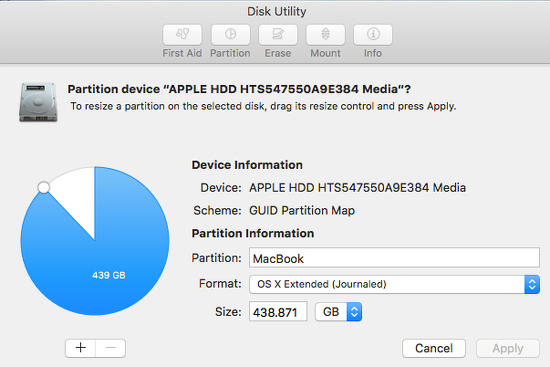 Disk Utility on the Apple Mac