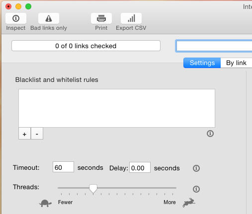 Integrity link checker for OS X
