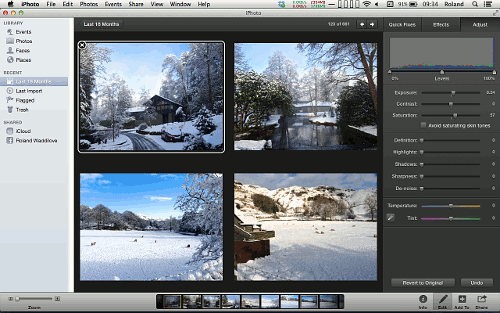 Edit multiple photos in iPhoto