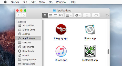 Finder on the Apple Mac