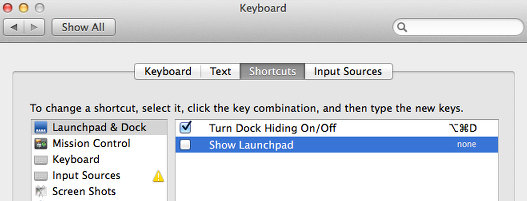 Launchpad on OS X