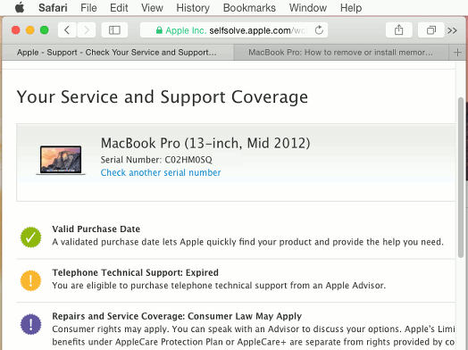 Apple Mac service and support