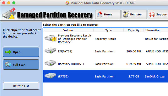 Mac Data Recovery for OS X