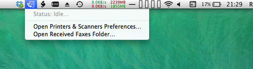 Menu extras for OS X