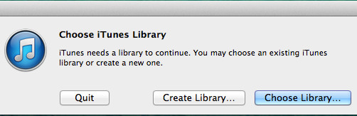 Move iTunes library