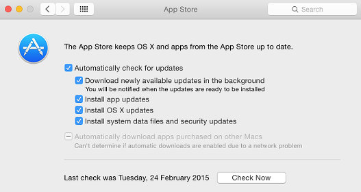 Enable or disable automatic OS X updates