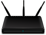 Black wireless router