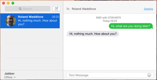 Receive text messages on your Mac