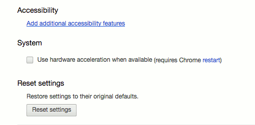 Turn off 'Use hardware acceleration when available.