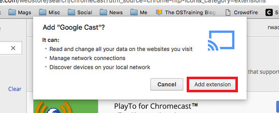 how to connect chromecast to my mac