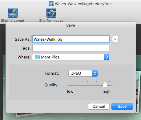 CollageFactory free collage maker for the Apple Mac
