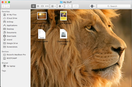 Select a picture for a folder background in OS X on the Apple Mac