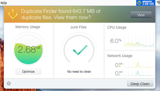 Dr. Cleaner Elite for the Apple Mac optimises memory and cleans up junk files