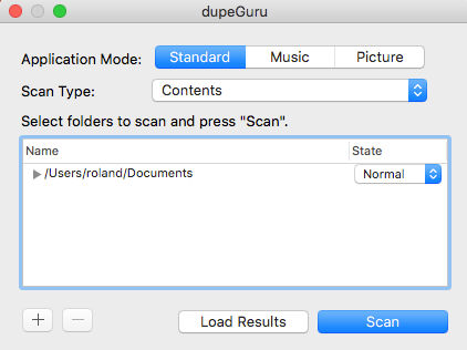 Use dupeGuru on the Apple Mac to find duplicate files on the disk