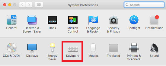 System Preferences in OS X on the Apple Mac