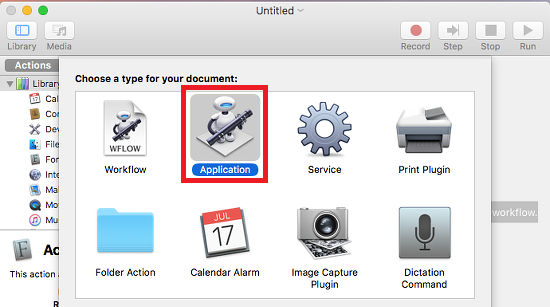 Use Automator on the Apple Mac to create apps for macOS