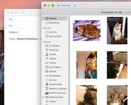 Find photos with Siri on the Apple Mac