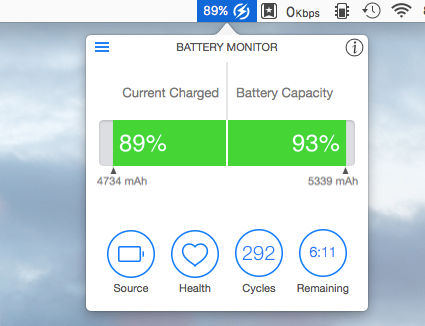 Battery Monitor for OS X