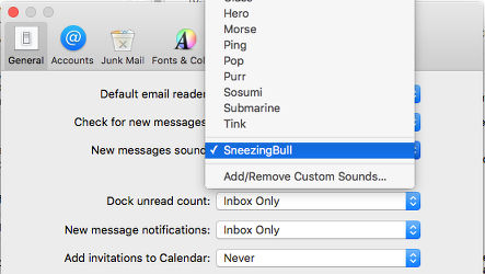 New mail sound in the Mail app