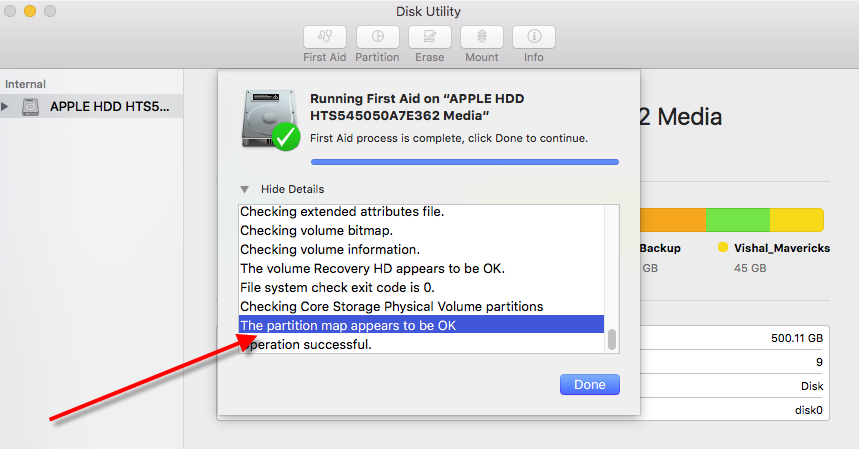 Disk Utility in OS X on the Apple Mac