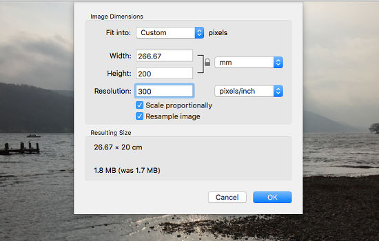 Resize photos with Preview on the Apple Mac