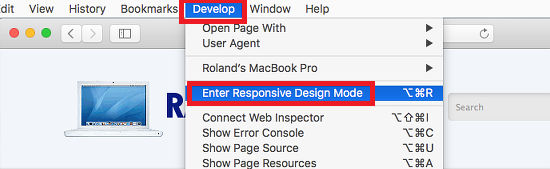 Enable and use the Develop menu in Safari on the Apple Mac