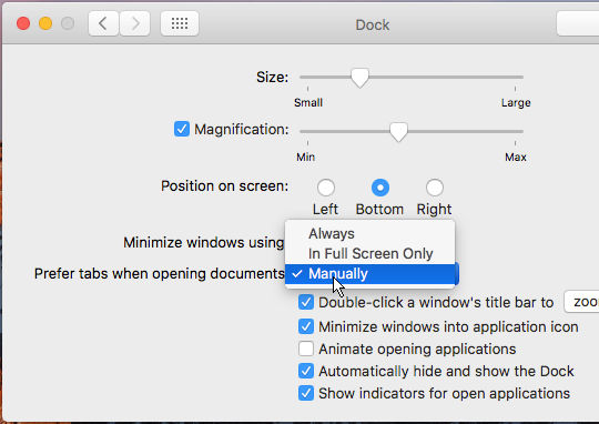 System Preferences in macOS Sierra on the Apple Mac