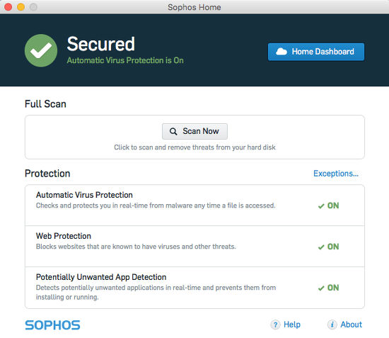 Sophos Home Mac security